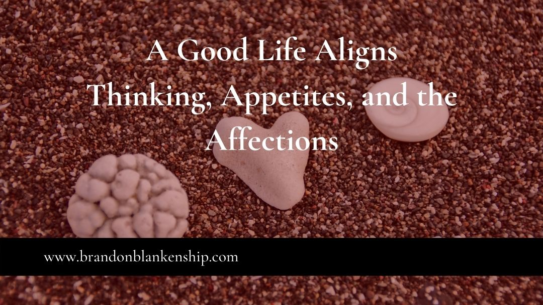 A Good Life Aligns Thinking, Appetites, and the Affections
